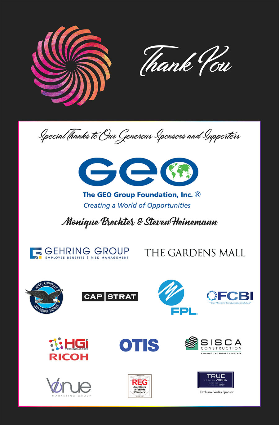 Off the Wal Gala Sponsors